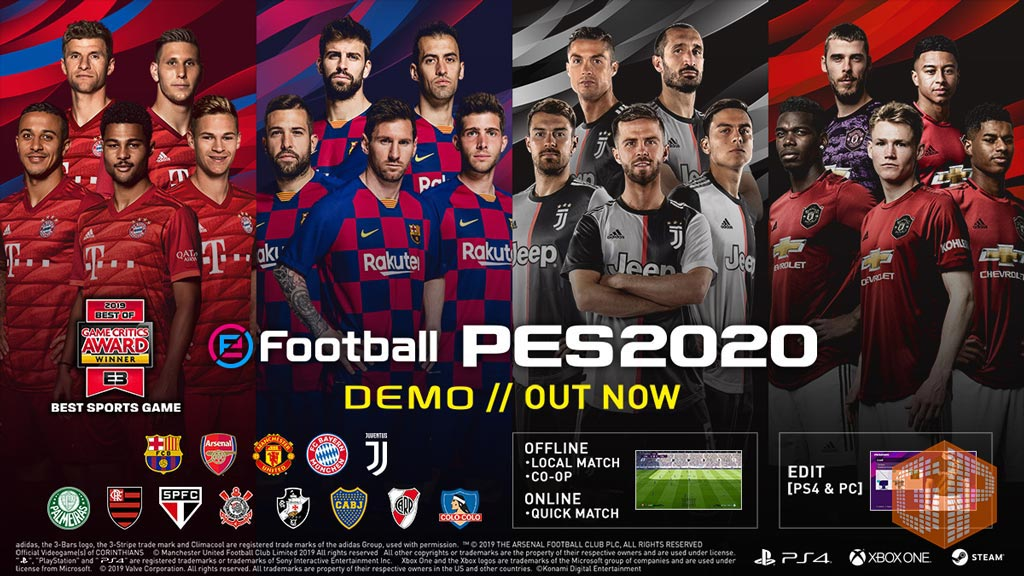 دانلود دموی بازی PES 2020 برای پلی استیشن 4