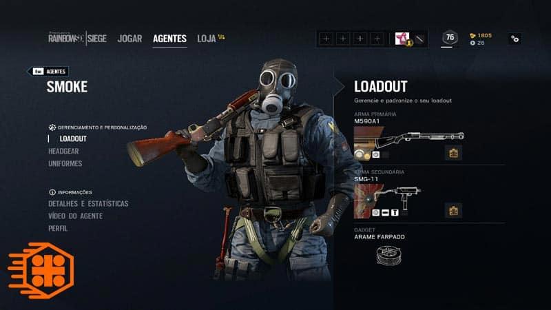 اسلحه های Smoke در بازی Rinbow Six