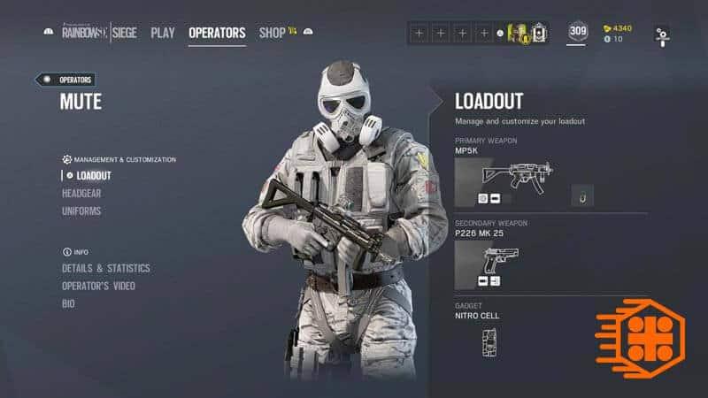 اسلحههای Mute در گیم پلی بازی Rainbow Six