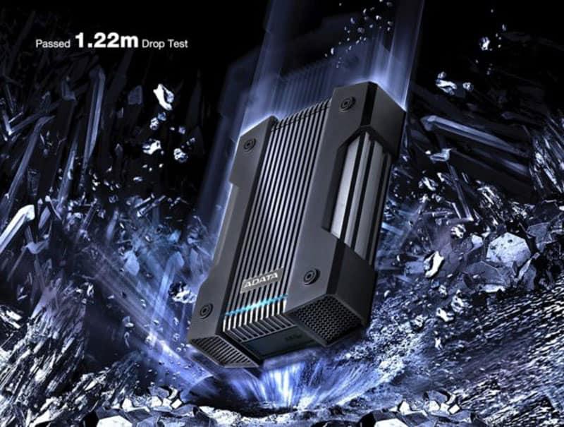 قابلیت ضد ضربه بودن هارد اکسترنال ای دیتا مدل HD830 ظرفیت 2 ترابایت