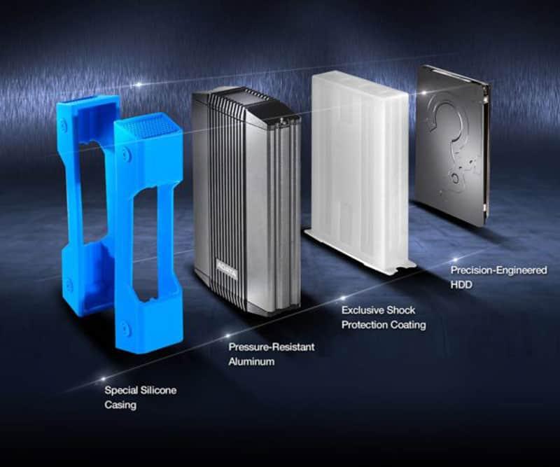 ساختار سه لایه هارد اکسترنال ای دیتا مدل HD830 ظرفیت 2 ترابایت