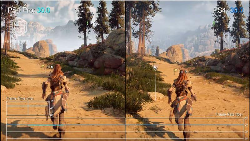 مقایسه Frame Rate بین کنسول PS4 و PS4 Pro
