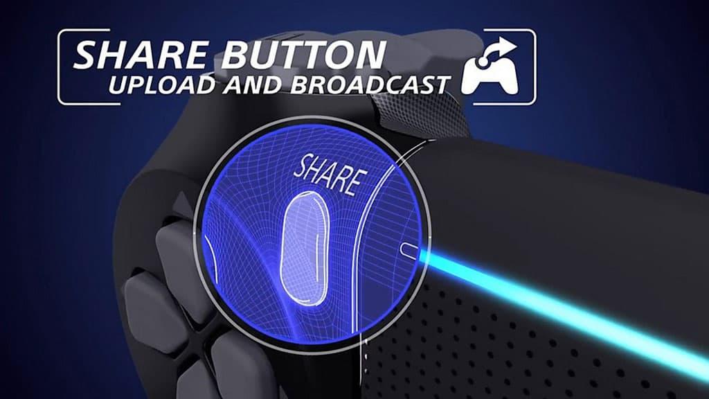 قابلیت های دکمه SHARE در دوال شاک یا دسته پلی استیشن 4 اسلیم