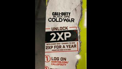 تصویر از نام بازی Call of Duty: Black Ops Cold War روی بستههای چیپس Doritos